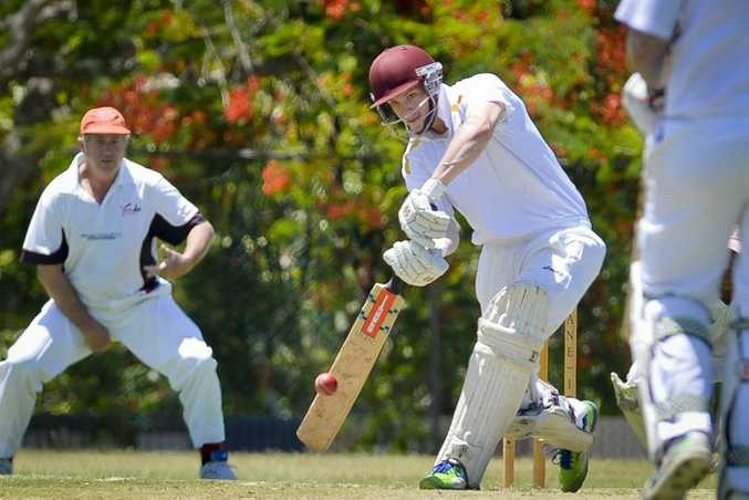 David Heymer. - A grade cricket between Yaralla and The Glen. Photo Paul Braven / The Observer