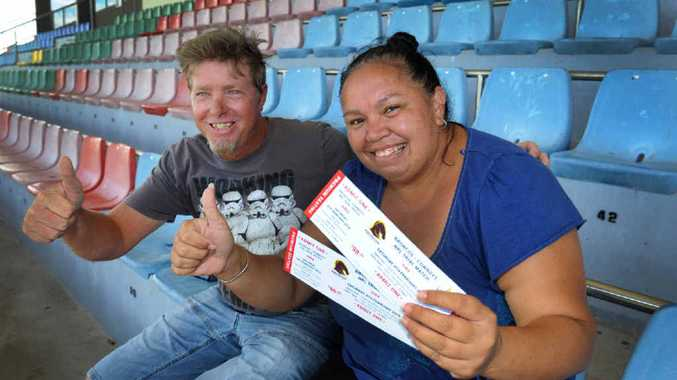 Thanks to Barry Fensom and Bundaberg Rugby League, Tracey Lawson and her son Kayden Kolm (inset) will be seated in the main grandstand for the Broncos and Cowboys trial match and Kayden will enjoy a meet and greet.
