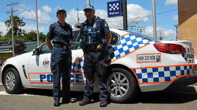 BLUE CHRISTMAS: Warwick Police Sergeants Lisa Self and Shane Reid are supervising shifts on Christmas Day.