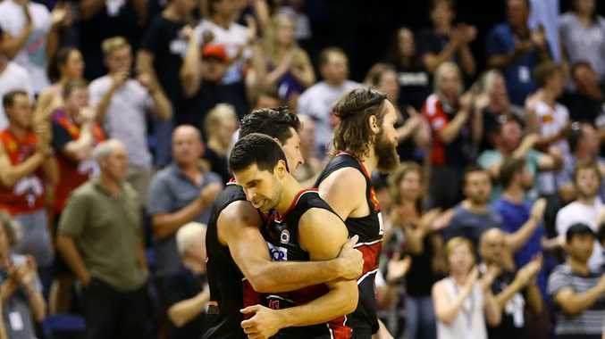 Kevin Lisch, with teammates, will be a key to the Hawks causing an upset. Photo: Getty Images.