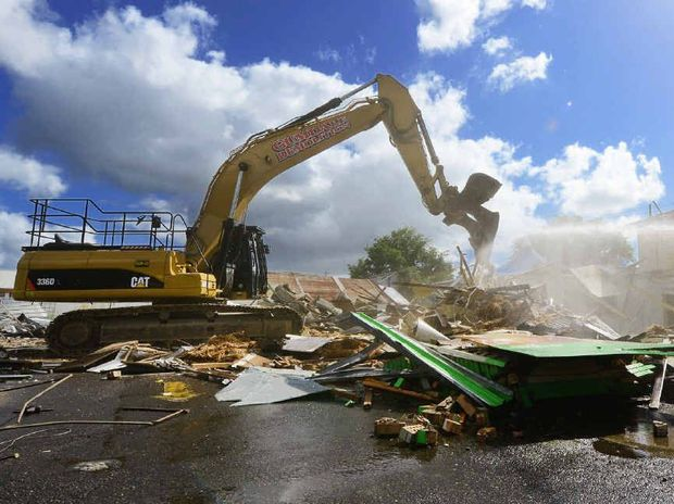 DOWN SHE GOES: Demolition has started on the One Mile Hotel but what exactly will be built on the site remains a mystery.