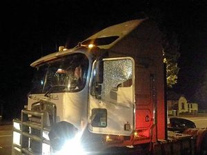 Trucks attacked with rocks driving through Toowoomba