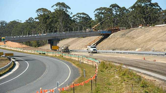 Pacific Highway upgrade at Valla.