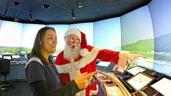 Santa visits Airservices before his big flight this Christmas Eve.