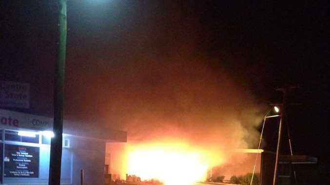 Fire engulfed the Lifeline store in Berserker last night