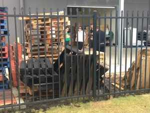 Fire breaks out in empty pallets at Stockland Hervey Bay