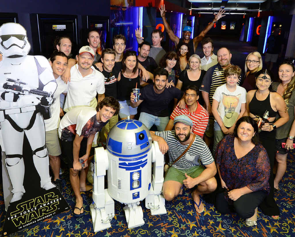 The cast and crew from 'We Were Tomorrow' attended a special screening of the new Star Wars film in Ipswich.