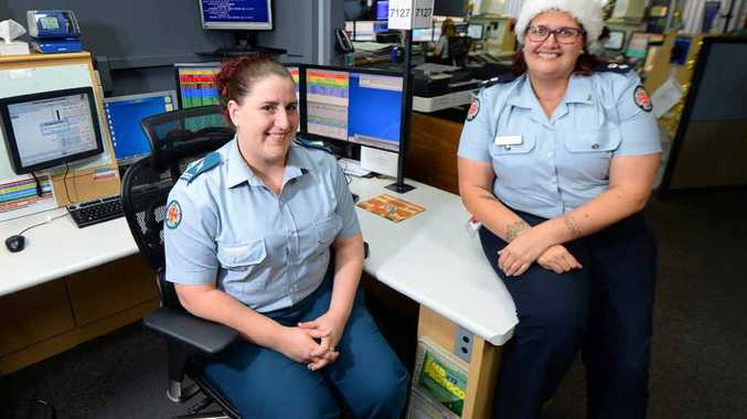 CALL OF DUTY: Emergency Medical Dispatcher Vicki Ceola (left) and Rockhampton Operations Centre manager Mindy Thomas.