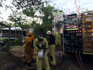 Home at Landsborough narrowly saved from fire destruction