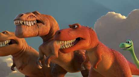 An Apatosaurus named Arlo makes some unlikely friends and must face his fears in The Good Dinosaur.