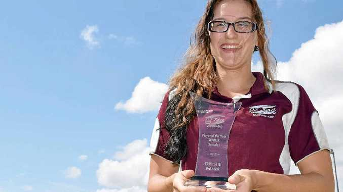 TAGGED FOR GLORY: Hervey Bay's Christie Palmer was named Queensland OzTag's Player of the Year. The 22-year-old is heavily involved in all levels of OzTag, playing, refereeing and running competitions in the Wide Bay.