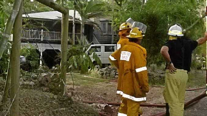 SAVED: Firefighters at a home near Landsborough.