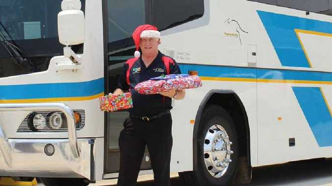 HO HO HO: Jeff Park spreading festive cheer to western Queensland.