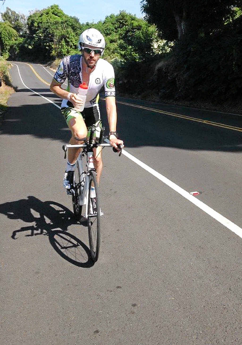 GREAT EFFORT: Killarney police officer Adam Fox was 14th in the Ultraman Hawaii, a world championship event over three days.