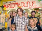 SHOPPING SPREE: Daniel Heise got the surprise of his life when Make-A-Wish Foundation gave him $1000 to spend at JB Hi-Fi. Pictured here with his family. Photo: Max Fleet / NewsMail