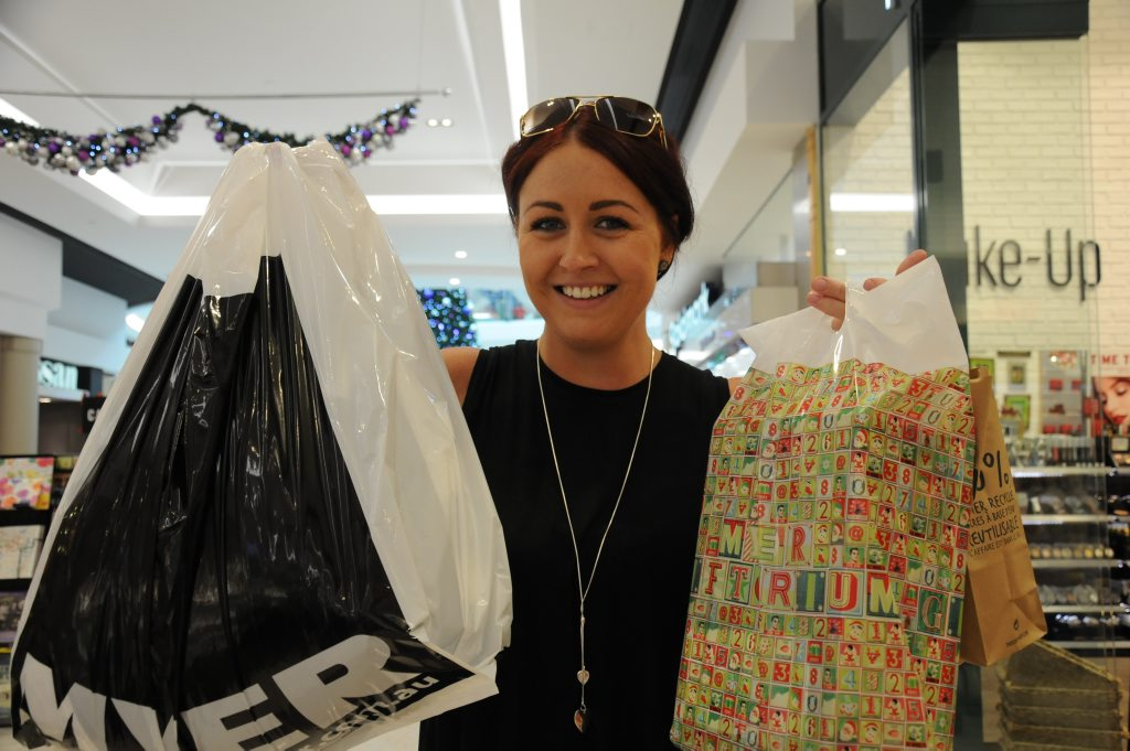 BARGAIN HUNTING: Steph Ferguson knows how to make the most of Boxing Day sales.