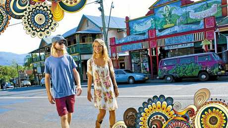 A promotional image from Lismore City Council's new Nimbin marketing campaign.  Photo Contributed