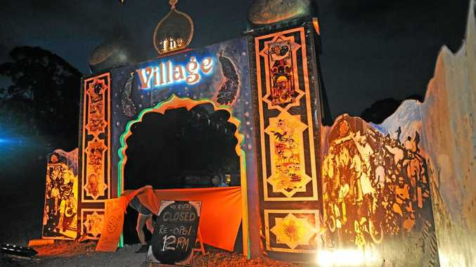 The Village at a previous Falls Festival - it's a gate to a festival within the festival.