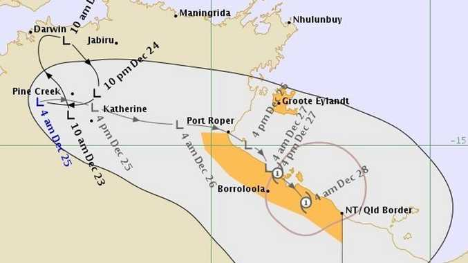 Cyclone warning issued early this morning