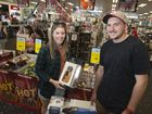 Caysie Hannant and Joe Collins scored a few deals at the Boxing Day sales at Harvey Norman.