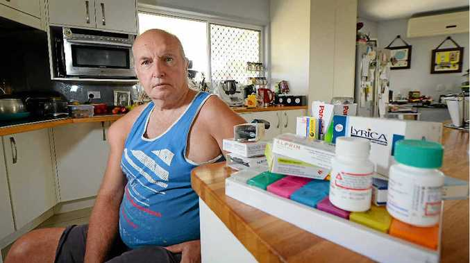 TRIAL HOPE: Dan Heinemann, who was injured in a workplace accident eight years ago, believes he could do away with much of his medication if he could take part in the medicinal cannabis trials announced by the Queensland Government.