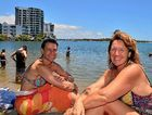 RELAXING: Christine Smith and Josephine Keijzer at Cotton Tree.