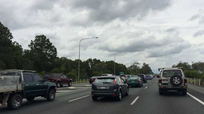 Northbound Bruce Hwy traffic is badly congested between Murrumba Downs and Elimbah