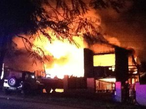 Pair lucky to escape home 'inferno' at Redbank Plains