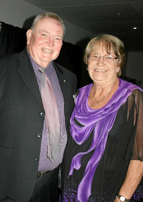 Mike and Ros Keim at a Lions Youth of the Year presentation evening.