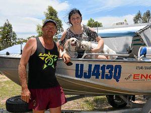 Long weekend campers hit the water at Leslie Dam