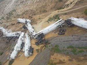 Derailed sulphuric acid train could take week to remove