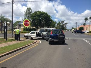 VIDEO: 3 adults and girl, 10, taken to hospital after crash