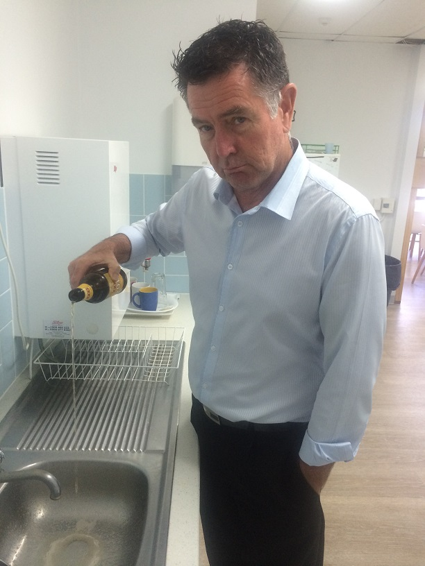 DOWN THE DRAIN: The Daily's deputy editor is trying to give up the grog as his New Year's resolution.