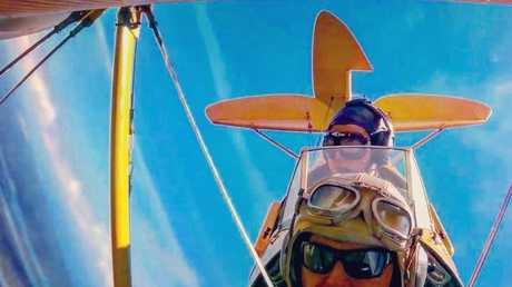 Ryan Campbell posted this photo on Facebook to describe the thrill of flying the Tiger Moth.