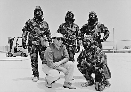 An Australian chemical weapons inspection team, 1991. National Archives of Australia