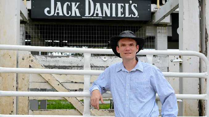 READY AS HE WILL EVER BE: Dr James Ware is ready for his eight seconds of glory at the New Year's Eve Rodeo at the Warwick Showgrounds.
