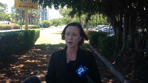 Attorney General Yvette D'Arth spoke on the Fraser Coast