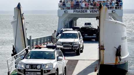 Adventuring Fraser Island - The Fraser Venture barge, River Heads. Photo: Valerie Horton / Fraser Coast Chronicle