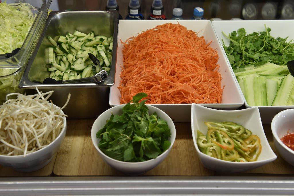 O BANH MI: Fresh salad made every day.