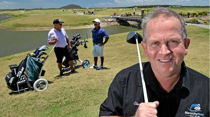 KEEPING BUSY: Maroochydore River Golf Club general mamager Charlie McGill shows off the view of Mount Coolum.
