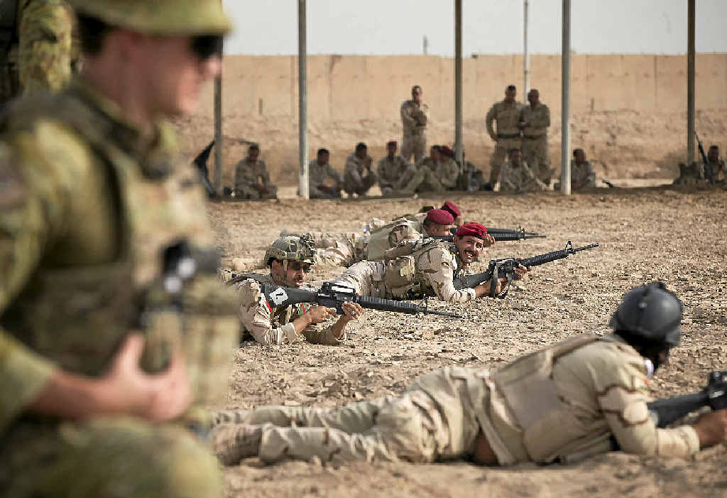 IN FOR THE LONG HAUL: Australians soldiers have played a vital role in training, advising and offering air support to Iraqi forces.