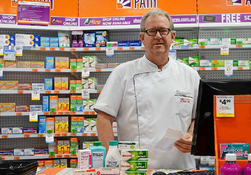 HERE TO HELP: Pharmacist manager Les Black is happy to help customers make the best decision for their family.
