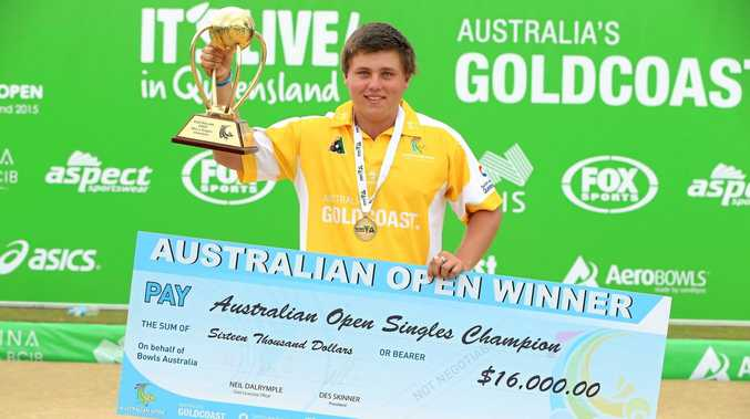 Another top moment for local sport in 2015 was Ballina bowler Aaron Teys winning the Australian Open on the Gold Coast.