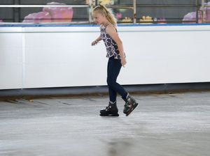 Kids enjoy ice skating