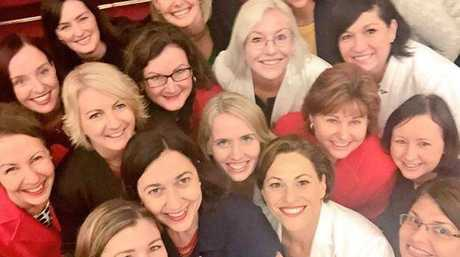 A selfie of 2015 Palaszczuk government female MPs, including several ministers. Contributed / QLD301215cabinet4