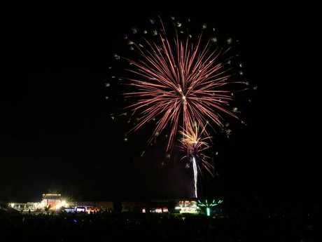New Year's Eve 2015 attracted thousands of people to North Ipswich Reserve.
