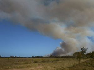 Firefighters battle bushfire at Bundy national park