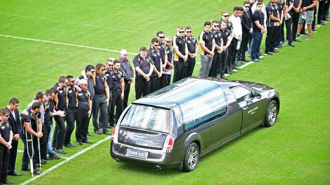 Friends, family and members of the NRL community celebrated the life of James Ackerman