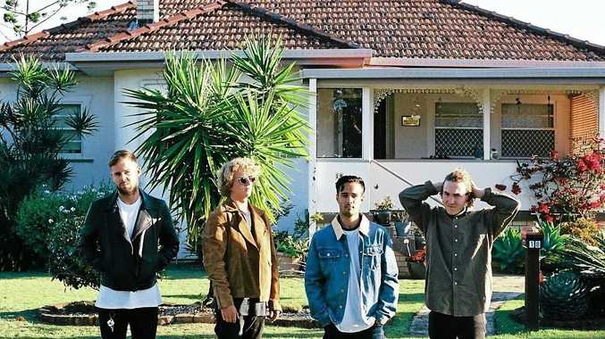 Byron Bay band PLTS are Kit Bray, Byron Carney, Harry Deacon and Eli Ayo.