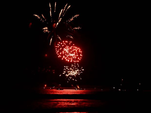 Fireworks at Mooloolaba on New Year's Eve 2015.